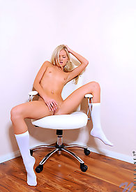 A very rare pictures of pretty blonde Franziska pantyless in hot superb coed uniform looking so uhmmm
