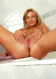 Check out the irresistible sexy Talya as she brags her cock craving wet pussy in the bathroom
